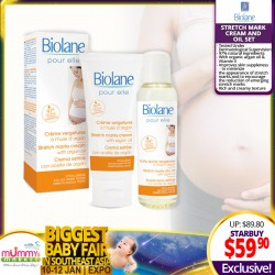 Biolane Stretch Mark Cream and Oil Set