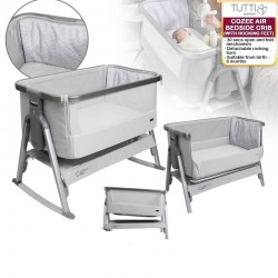 Tutti Bambini Cozee Air Bedside Crib / Cot / Co-Sleeper (with Rocking Feet)