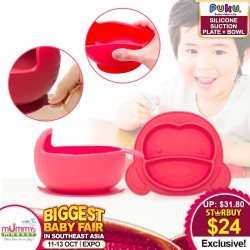 Puku Silicone Suction Plate + Bowl
