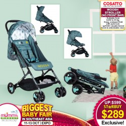 Cosatto Woosh Stroller - CABIN SIZE SUPER STYLISH, LIGHT, COMPACT!! (Without Front Bar)