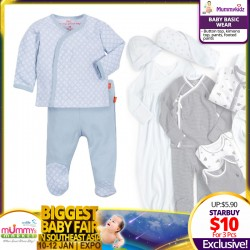 Baby Basic Apparel (Button top, Kimono top, Pants, Footed pants)