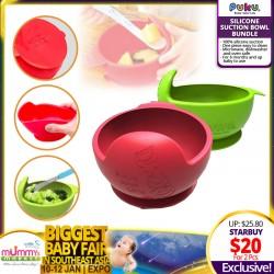 PUKU Silicone Suction Bowl (Bundle of 2)