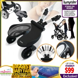 BumpRider Stand on Board (Stroller Accessories) - GREY *ADDITIONAL $10 OFF for EARLY BIRD Specials!!