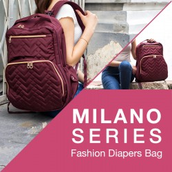 Princeton Fashion Diaper Bag Milano Series + FREE Changing Mat + Warmer Bag!!