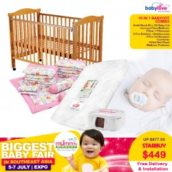Babylove 10 IN 1 Baby Cot Combo