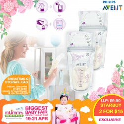 Philips Avent Breastmilk Storage Bag (25x180ml) 2 for $15