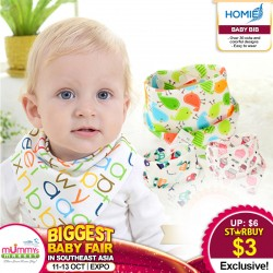 100% Cotton Reversible Triangle Double Sided Baby Bibs (50 PERCENT OFF!)