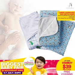 Moo Moo Kow Large Size Changing Pad (Bundle of 2) + Free 2 Case worth $32