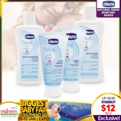 Chicco Skincare Range - Bath Shampoo/Bath Foam/Liquid Talc/Face Cream/Body Lotion/Cleansing Milk