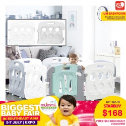 Yaya Ium Babyroom Playard + $60 Discount Voucher for Donut Mat