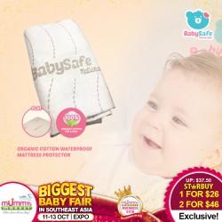 BabySafe Organic Cotton Waterproof Mattress Protector