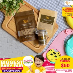 Lilo Premium Mushroom Powder (Bundle C) + FREE Waterproof Silicon Baby Bib