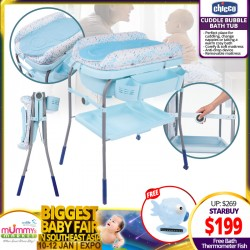 Chicco Cuddle & Bubble Comfort Baby Bath Tub / Changing Station + Free Bath Thermometer