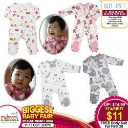 Baby Lovett 2-way Zipper - Sleep & Playsuit