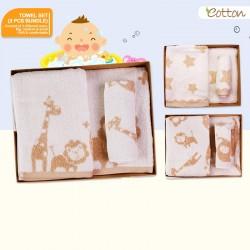 Eotton Organic Baby Towel Set (Bundle of 3pcs - S,M,L)