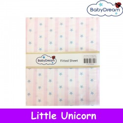 BabyDream Fitted Sheet for Baby Cot (Bundle of 2)