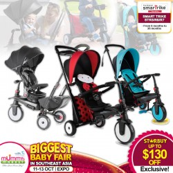 SmarTrike 8-in-1 Folding Trike STR7 Bike *ADDITIONAL OFF with SAVE MORE COUPON!