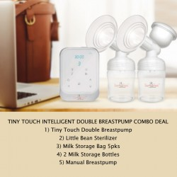 Tiny Touch Intelligent Electric Double Breastpump + Little Bean Sterilizer + Breastpads + Storage Bag + Manual Pump