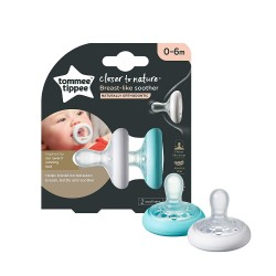 Tommee Tippee Teat Like Soother with Cover (0 - 6 or 6-18 Months)
