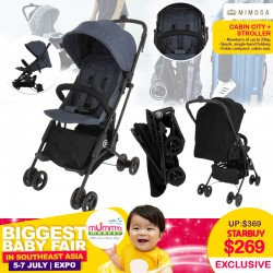 Mimosa Cabin City+ Stroller (JET SET BLACK / MIDNIGHT DENIM)