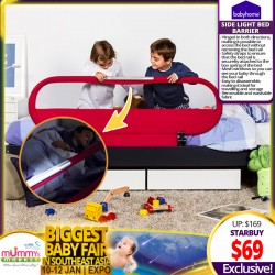 Babyhome Side Light Bed Barrier Bedrail *ADDITIONAL OFF for EARLY BIRD Specials!