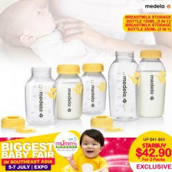 Medela Breastmilk Storage Bottle 3 in 1 Bundle of 2box!! (150ml) for $42.90 ONLY!!