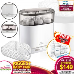 Philips Avent 4-In-1 Electric Sterilizer Bundle + Free Natural Newborn Starter Set (Bottles)