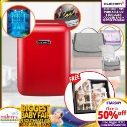 Cuchen UV Sterilizer + Free Hegen Bundle + 3 Years Warranty + Service Package + 59S Portable UV Cooler Bag