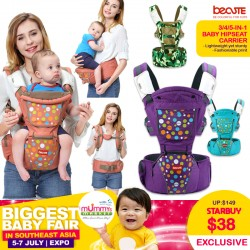 BeCute 3-in-1 Baby Hipseat Carrier