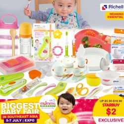 Richell Weaning Essential (Baby Utensils / Bowls / Conainers) Asst - At $2 Each NOW!!