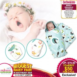 Ourone&Only Minky Swaddle Blanket - Bundle of 2 *ADDITIONAL FREE Voucher for EARLY BIRD SPECIAL!!