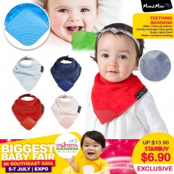 Mum2Mum Teething Bandana Bib (6 Colours Available)