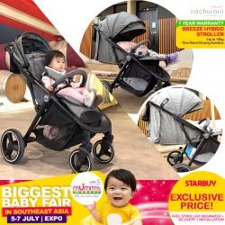 NEW LAUNCH!! Nachuraru Breeze Hybrid Stroller + (FREE Stroller Organizer + Delivery + Installation + Tutorial + 1 Year Warranty) + EARLY BIRD SPECIAL
