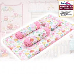 Babylove Premium 4 in 1 Mattress Set (100% Cotton) * GET $3.00 OFF FOR EARLY BIRD SPECIAL!!!