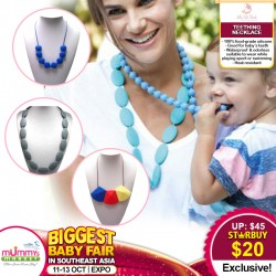 Jelly Sili Beads Teething Necklace