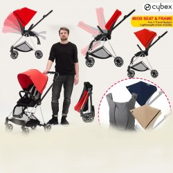 Cybex Mios Bundle Deal!! (Seat & Frame + Color Pack 2 pcs ) FREE Cybex Yemaya Leather Baby Carrier (WORTH $599) + FREE Delivery!!