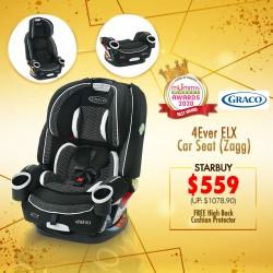 (2020 AWARD WINNER) Graco 4Ever DLX Carseat (ZAGG) FREE High Back Car Cushion Protector (L) worth $79.90