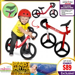 SmarTrike Folding Balance Bike *ADDITIONAL $10 OFF with SAVE MORE COUPON!!