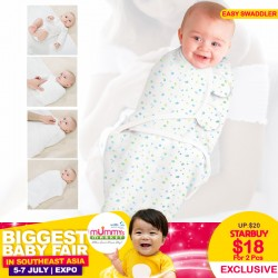 Easy Swaddler Blanket 100% COTTON (Bundle of 2pcs)