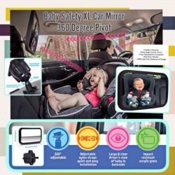 Babytoon Baby Safety XL Car Mirror 360 Degree Pivot