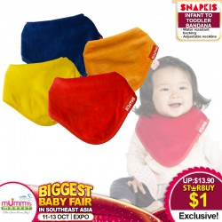 Snapkis Infant To Toddler Bandana (Asst Colors) for $1 ONLY!!