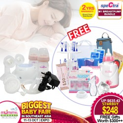 Spectra M1 Breastpump Bundle Deal + Free Gifts worth $300+ + Warmer + 2 Years Warranty