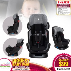 Snapkis Companion 0-11 Carseat (GREY MELANGE/BLACK)