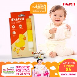 SNAPKIS Face Towel 6pk For $5 ONLY!!