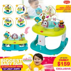 TinyLove 4-in-1 Hear I Grow Activity Centre (Walker/Pusher/Jumper/Activity Center)