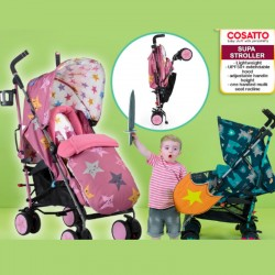 Cosatto Supa Single Stroller With SPEAKERS IN THE HOOD! + Free Chest pads + Headhugger + Rain Cover