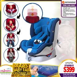 Apramo One Baby Carseat + FREE Carseat Accessories (Worth UP TO $69.90) *GET $40.00 OFF FOR EARLY BIRD SPECIAL!!!
