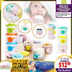 Hogokids Stackable Baby Milk Powder & Snack Storage Container / Dispenser