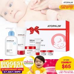 Atopalm Baby Care Gift Set (Top to toe wash 300ml + MLE Lotion 120ml + MLE Cream 65ml) + FREE MLE Lotion 20ml + Cream 8ml(x2)