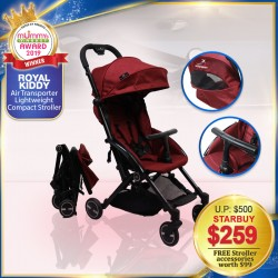 (2019 AWARD WINNER) Best All-in-1 Compact Stroller - Royal Kiddy London RK Air Transporter Lightweight Compact Stroller + FREE Gifts (WORTH $99!!)